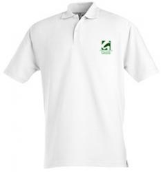 Рубашка поло белая с логотипом